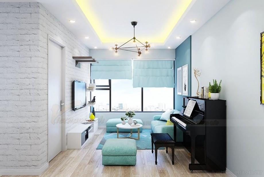 Thiết kế nội thất căn hộ 2 phòng ngủ 70m2