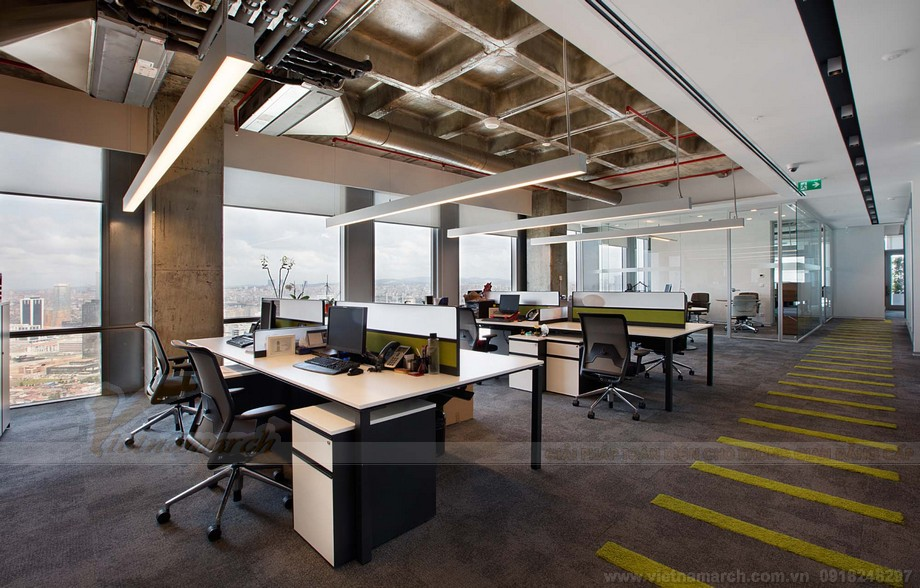 Thiết kế nội thất văn phòng làm việc độc đáo