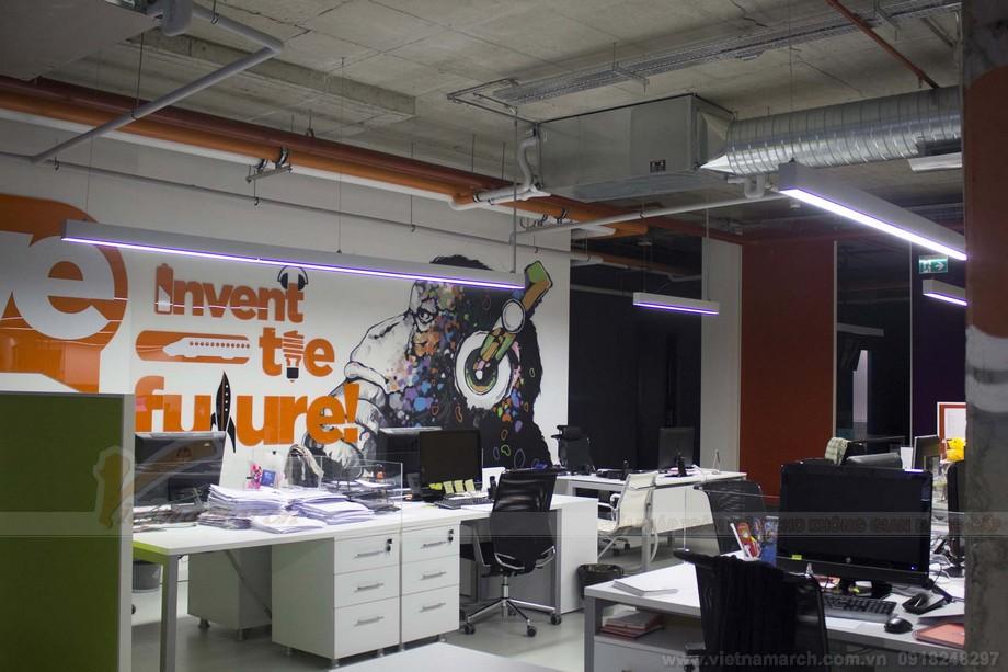 Khu vực phòng làm việc trong dự án coworking space năng động