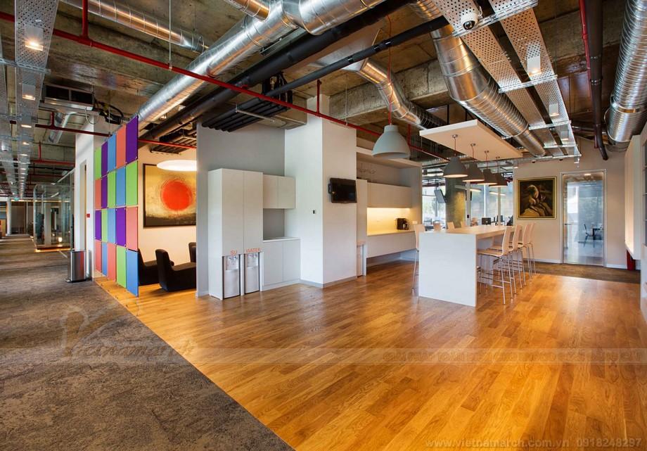 Thiết kế khu thư giãn trong mô hình coworking space đẹp tinh tế