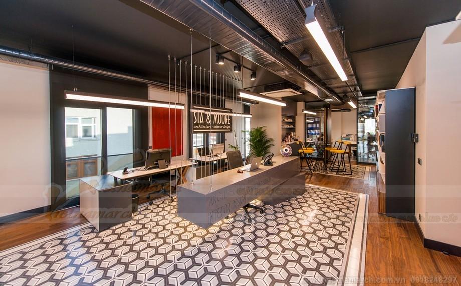 Thiết kế trần sàn độc đáo trong coworking space