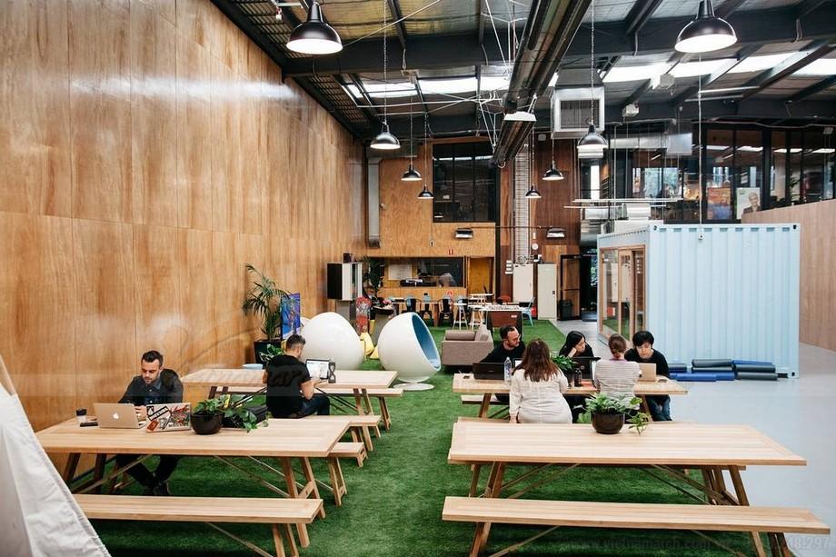 Phong cách thiết kế văn phòng coworking space
