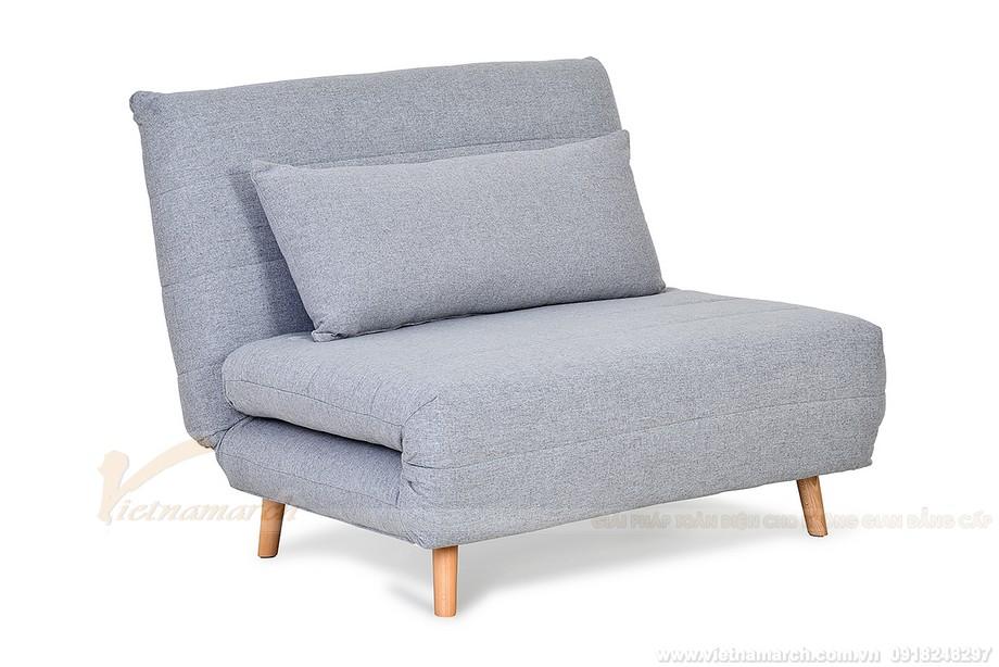 Mẫu sofa gỗ nỉ kiểu dáng văng mang cái nhìn thực sự hiện đại.