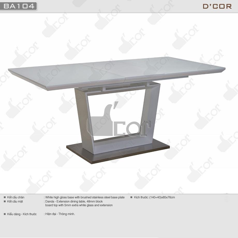 Mẫu bàn ghế ăn thiết kế hiện đại
