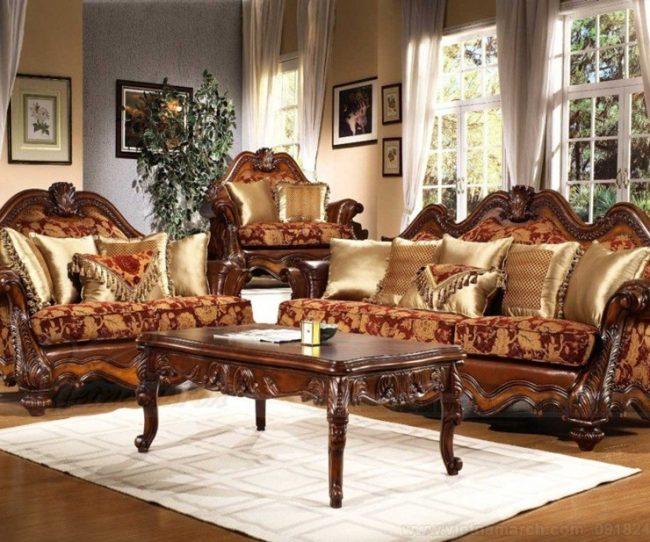 Mẫu sofa khung gỗ cổ điển đẹp nhất cho căn hộ chung cư