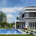 Top 7 mẫu biệt thự hiện đại thiết kế có hồ bơi đẹp xuất sắc