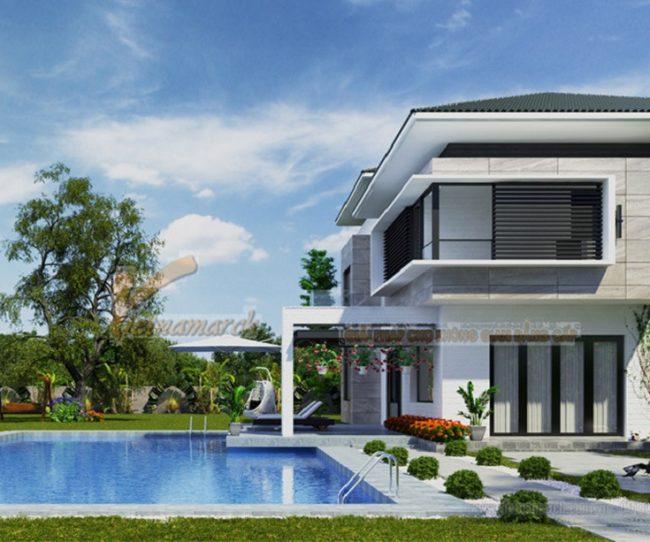 Top 7 mẫu biệt thự có hồ bơi đẹp xuất sắc
