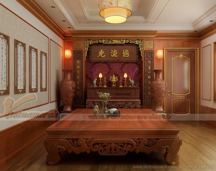 bàn thờ Gia tiên biệt thự tân cổ điển
