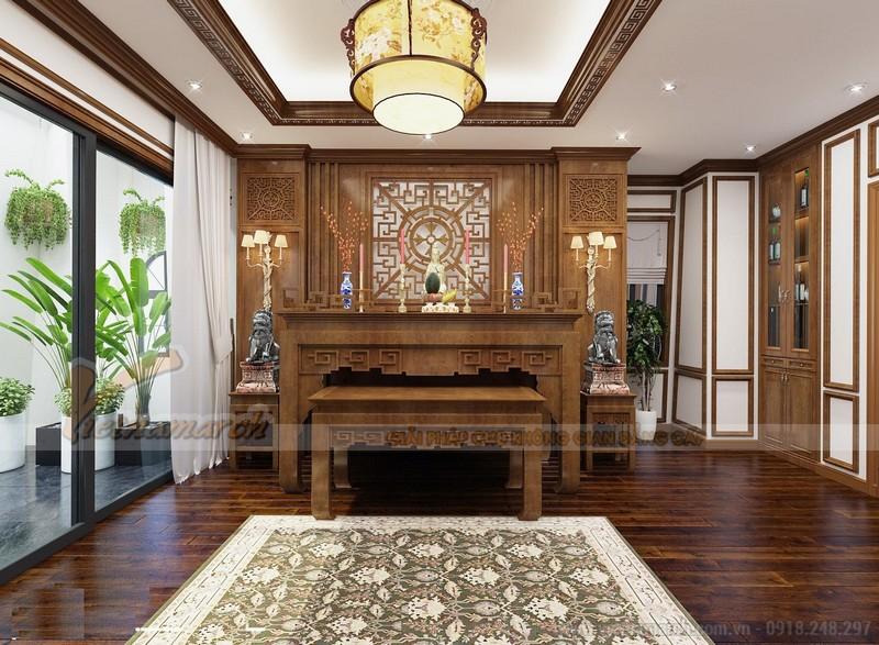 mẫu bàn thờ Phật đẹp phù hợp cho những căn biệt thự