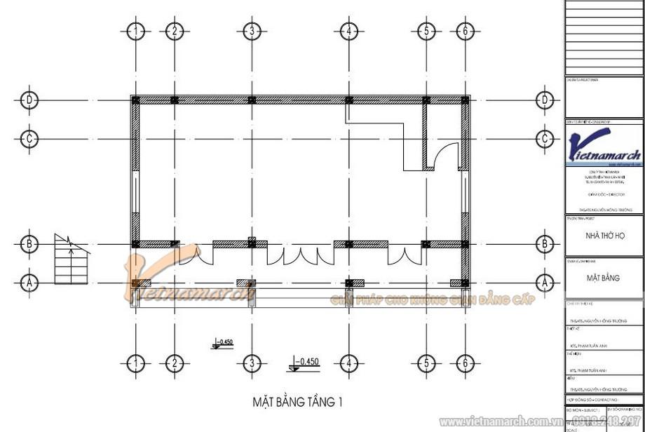 Bản vẽ thiết kế nhà thờ họ 2 tầng 8 mái tại Nghệ An