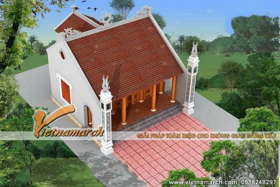 Bản vẽ thiết kế nhà thờ họ có hậu cung tại Nghệ An