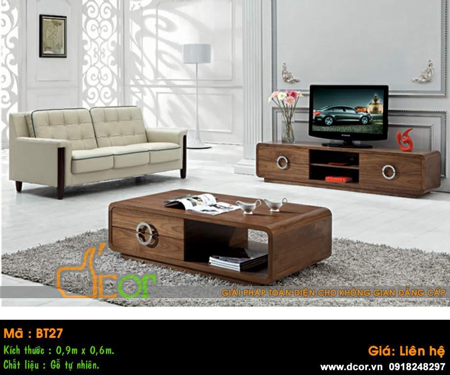 mẫu bàn sofa đẹp gỗ tự nhiên