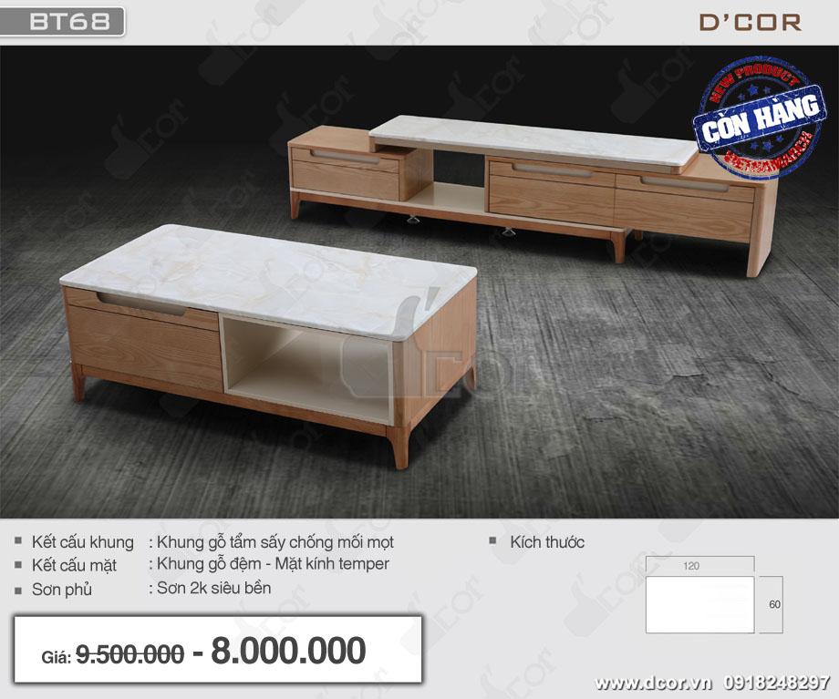các mẫu bàn sofa đẹp mặt kính