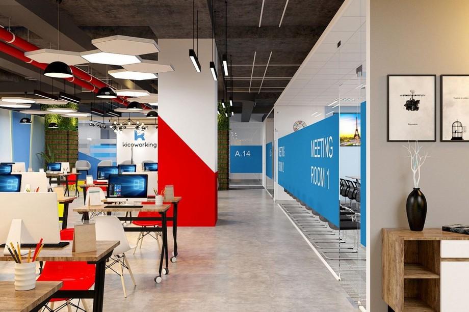 nội thất coworking space Lê Văn Lương