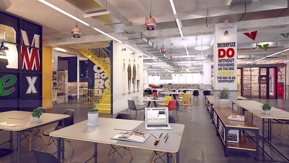 Văn phòng làm việc coworking space sắp xếp hợp lí