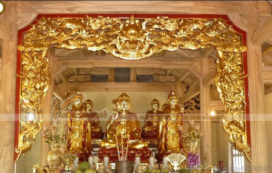 Cửa võng nhà thờ họ sơn son thếp vàng