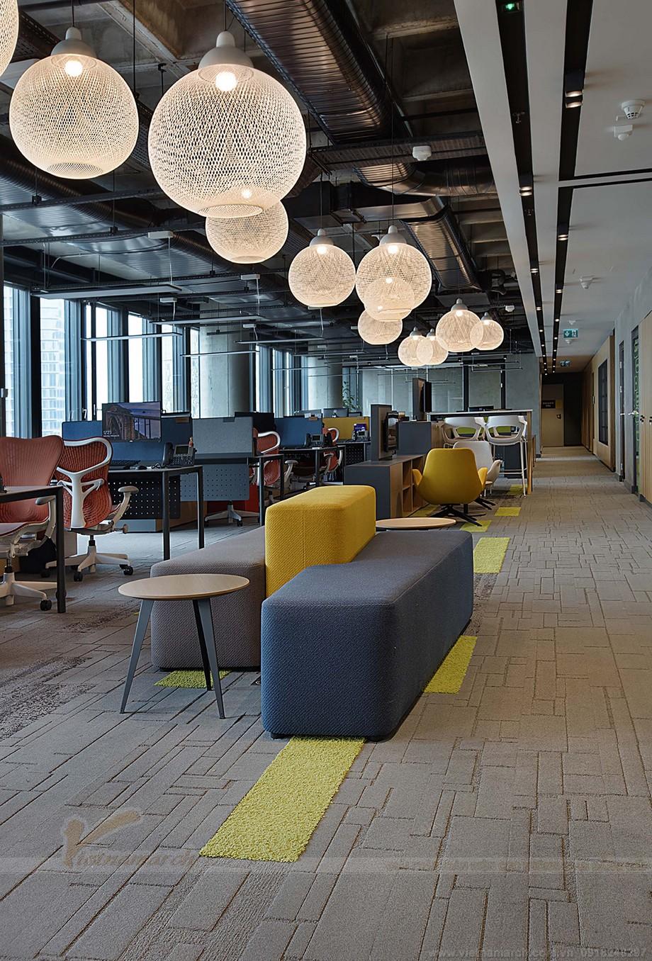 Thiết kế khu vực làm việc chung của coworking space