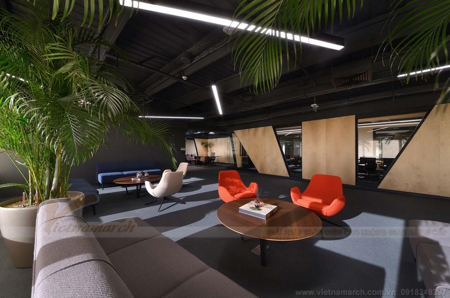 Thiết kế khu vực tiếp khách coworking space