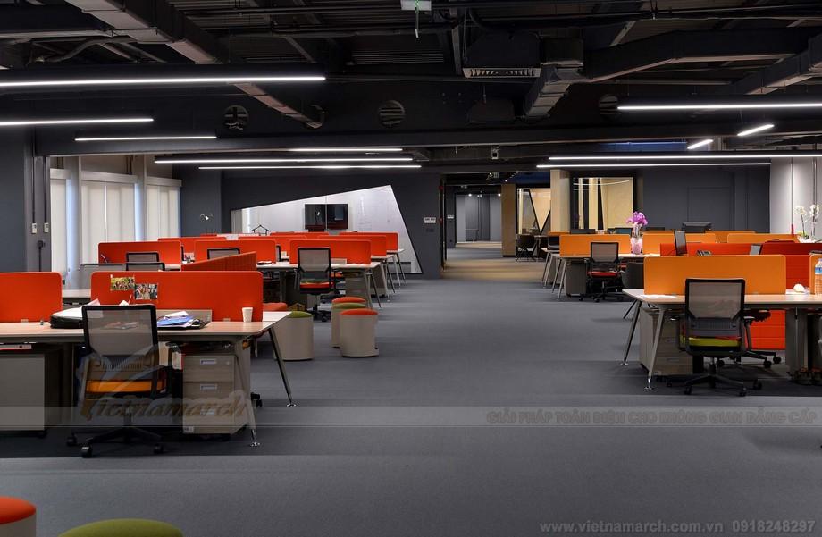 Thiết kế văn phòng làm việc coworking space đa phong cách chuẩn phong thủy