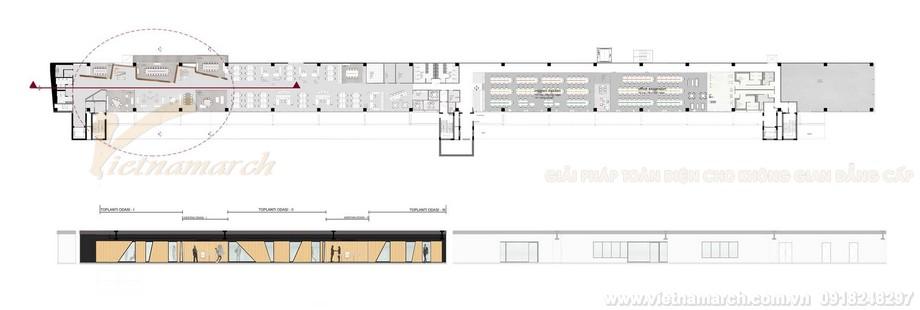 Bản vẽ thiết kế dự áncoworking space Hepsiburada.com