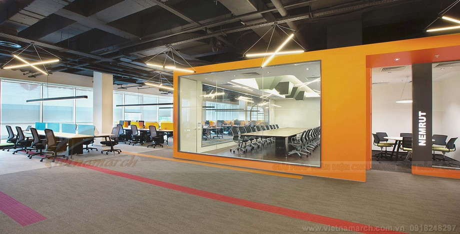 Thiết kế khu vực phòng họp của không gian lam việc chung cowoking space