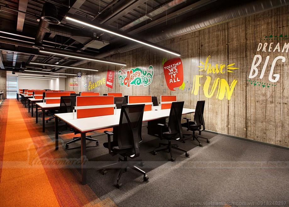 Thiết kế Khu vực làm việc trong văn phòng nóng bỏng quyến rũ