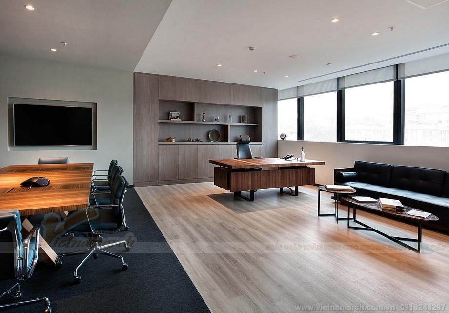 Khu vực văn phòng giám đốc thiết kế sang trọng và kín đáo