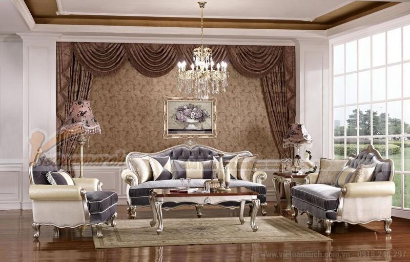 Sofa phong cách cổ điển được thiết kế tỉ mỉ, cầu kỳ, tinh xảo