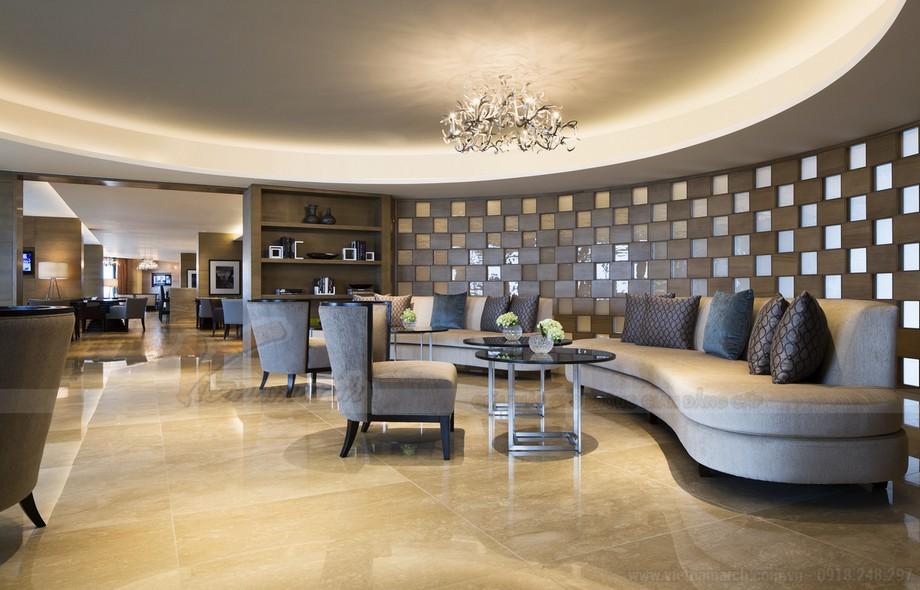 Phòng tổng thống có diện tích rộng, tối thiểu từ 120 m2 cùng thiết kế nội thất xa xỉ như cung điện