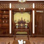 Chọn giấy dán tường phòng thờ đẹp chuẩn phong thủy âm dương hài hòa
