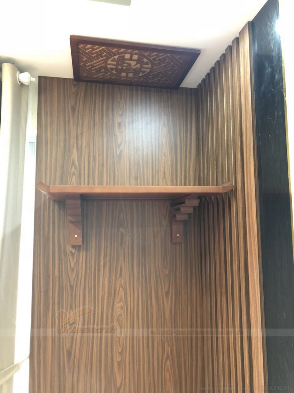 Lắp đặt mẫu bàn thờ treo đẹp cho chung cư Anland Nam Cường Hà Đông