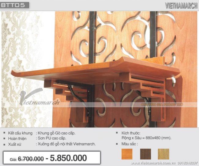 Mẫu bàn thờ đẹp dành cho chung cư Ngoại Giao Đoàn
