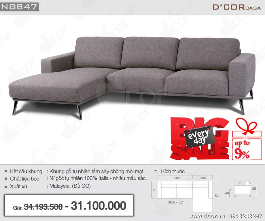 Mẫu sofa góc đẹp Đà Nẵng