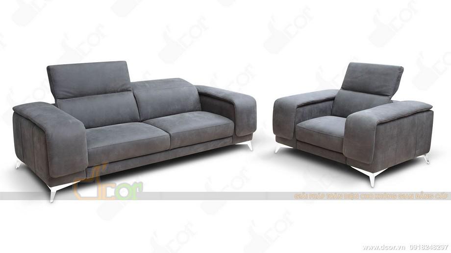 sofa văng nỉ tựa lưng cao