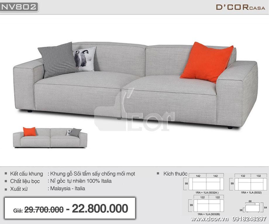 sofa văng vải nỉ