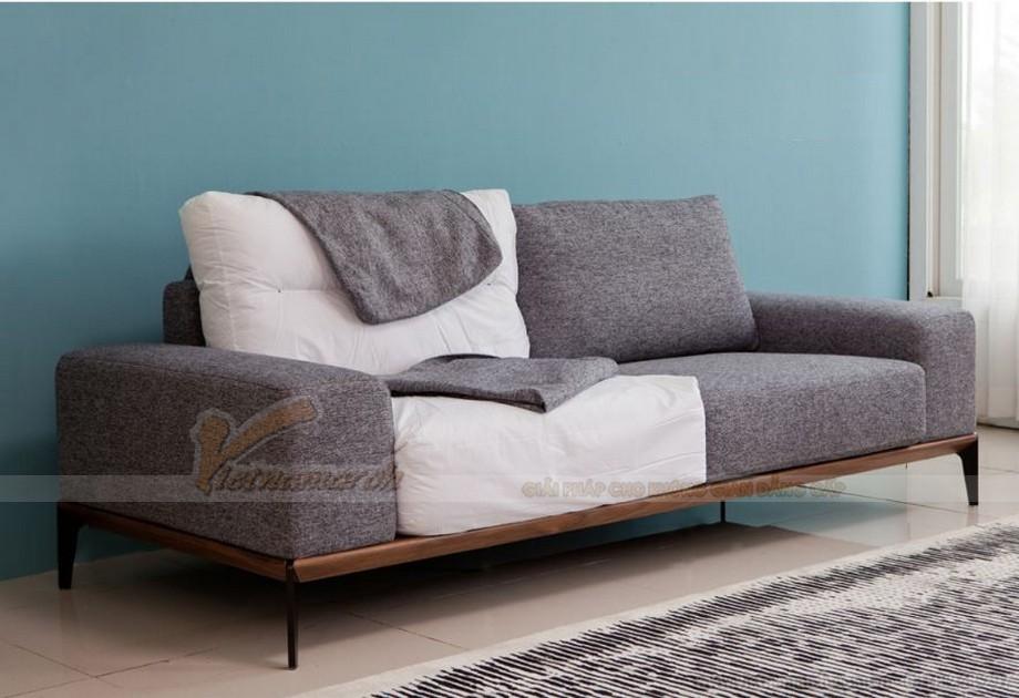 sofa vải nỉ màu xám