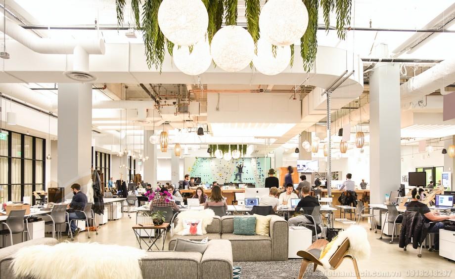 Mô hình coworking space cho thuê cơ sở hạ tầng văn phòng
