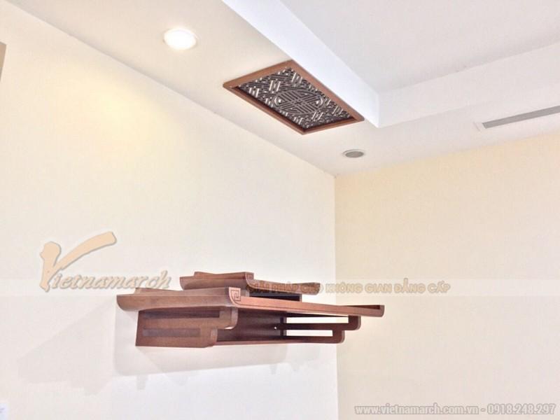 Mẫu bàn thờ treo tường phong cách giản dị