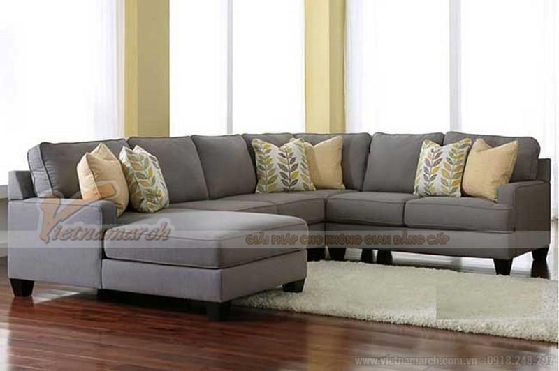 ghế sofa góc bằng vải, nỉ có giá thành thấp hơn so với các loại sofa bằng chất liệu khác mà còn kèm theo rất nhiều ưu điểm khác nữa như màu sắc, họa tiết rất phong phú, đa dạng.