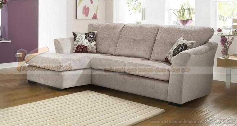 Sofa góc hình chữ L rất thích hợp làm ghế sofa cho phòng khách