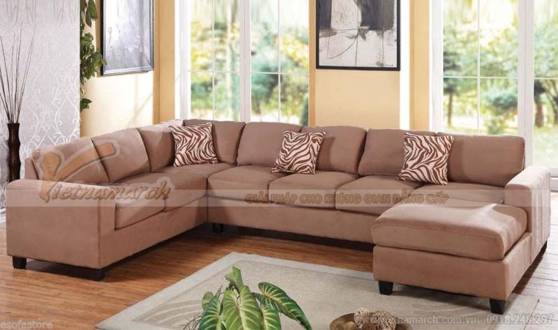 Sofa góc xoay hình chữ U là loại sofa có hai góc