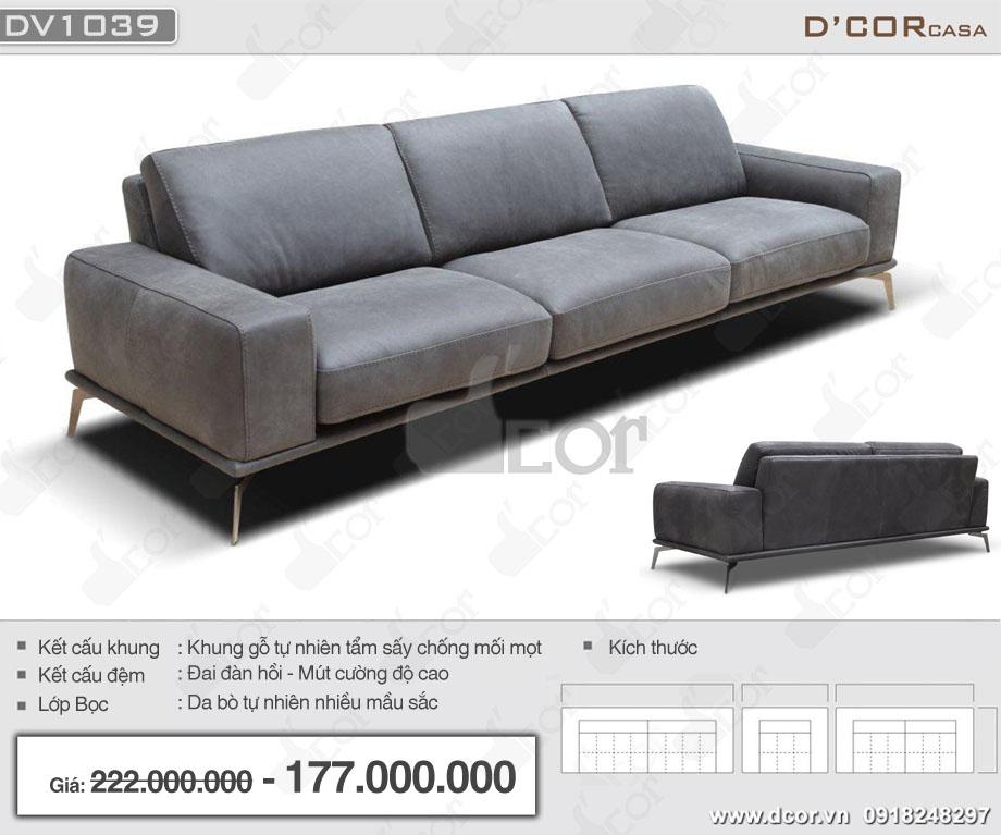 Sofa văng nhập khẩu Ý