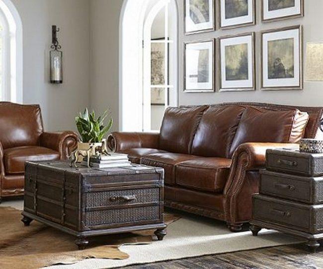 Ghế sofa văng da bò đẹp hiện đại cóbộ khung vững chắc