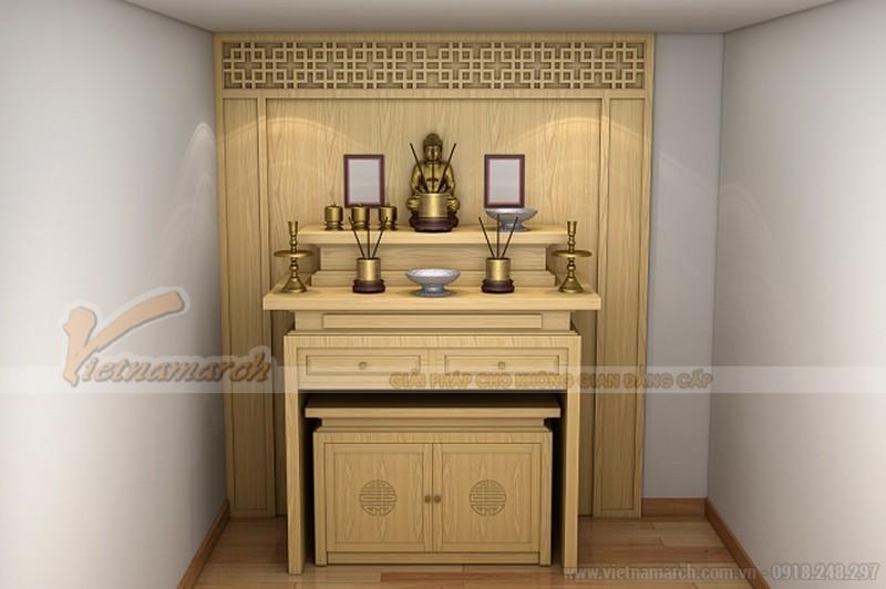 Mẫu tủ thờ gỗ sồi Nga