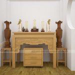 Tại sao bàn thờ gỗ sồi lại được ưa chuộng đến thế?