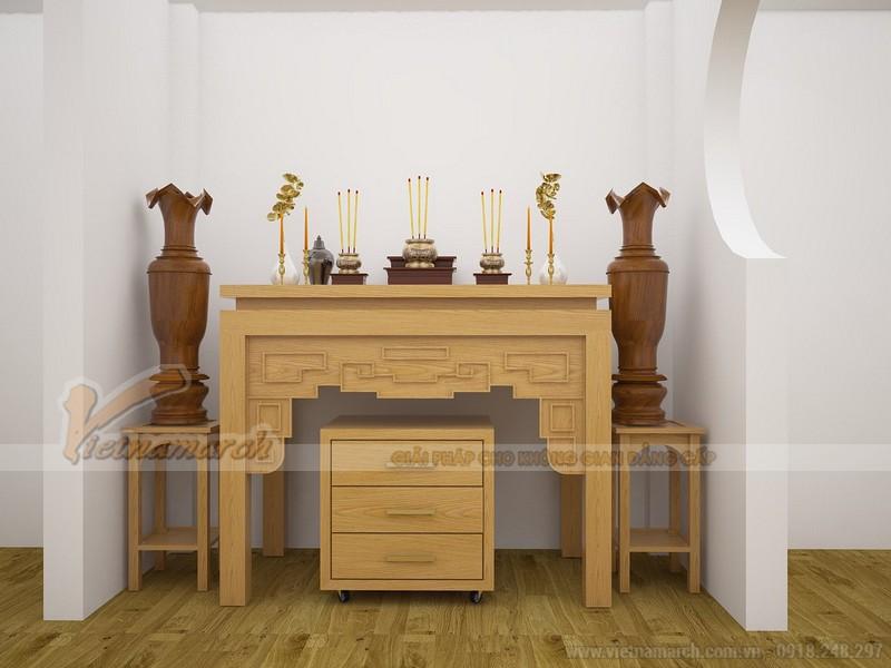 Mẫu bàn thờ gỗ sồi