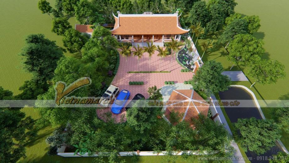 Nhà thờ họ Trương 5 gian 4 mái đẹp tại Ninh Bình