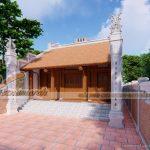 Thiết kế mẫu nhà từ đường 2 mái tại Thanh Miện – Hải Dương