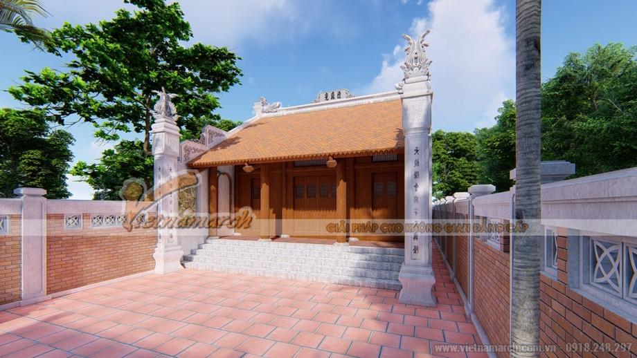 Thiết kế mẫu nhà từ đường, nhà thờ tổ 2 mái tại Thanh Miện - Hải Dương 01