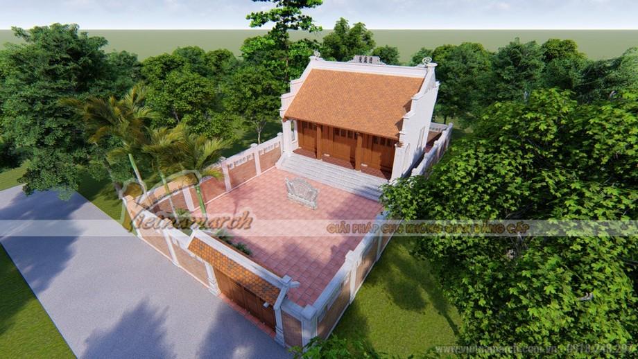 Thiết kế nhà thờ họ 3 gian 2 mái tại Hà Nam